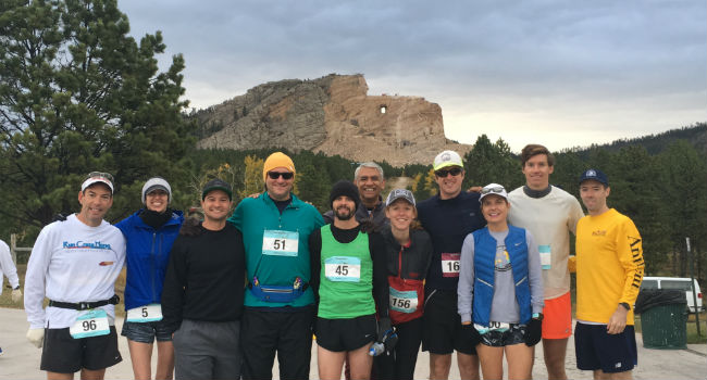 Brad Feld, Ryan Martens and Gary Ditsch at 2017 Crazy Horse Marathon